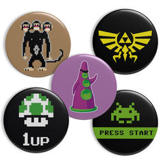 Geek Buttons Gaming Theme
