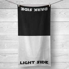 Dark Side / Light Side Beach and Bath Towel