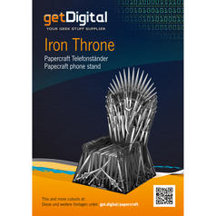 Papercraft Phone Stand Iron Throne