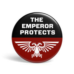 Geek Button The Emperor Protects
