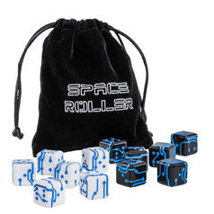 6 dés de science-fiction Space Roller