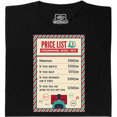 Programmer Price List T-Shirt